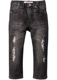 Džíny s upravěním Destroyed, John Baner JEANSWEAR, antracitový denim used