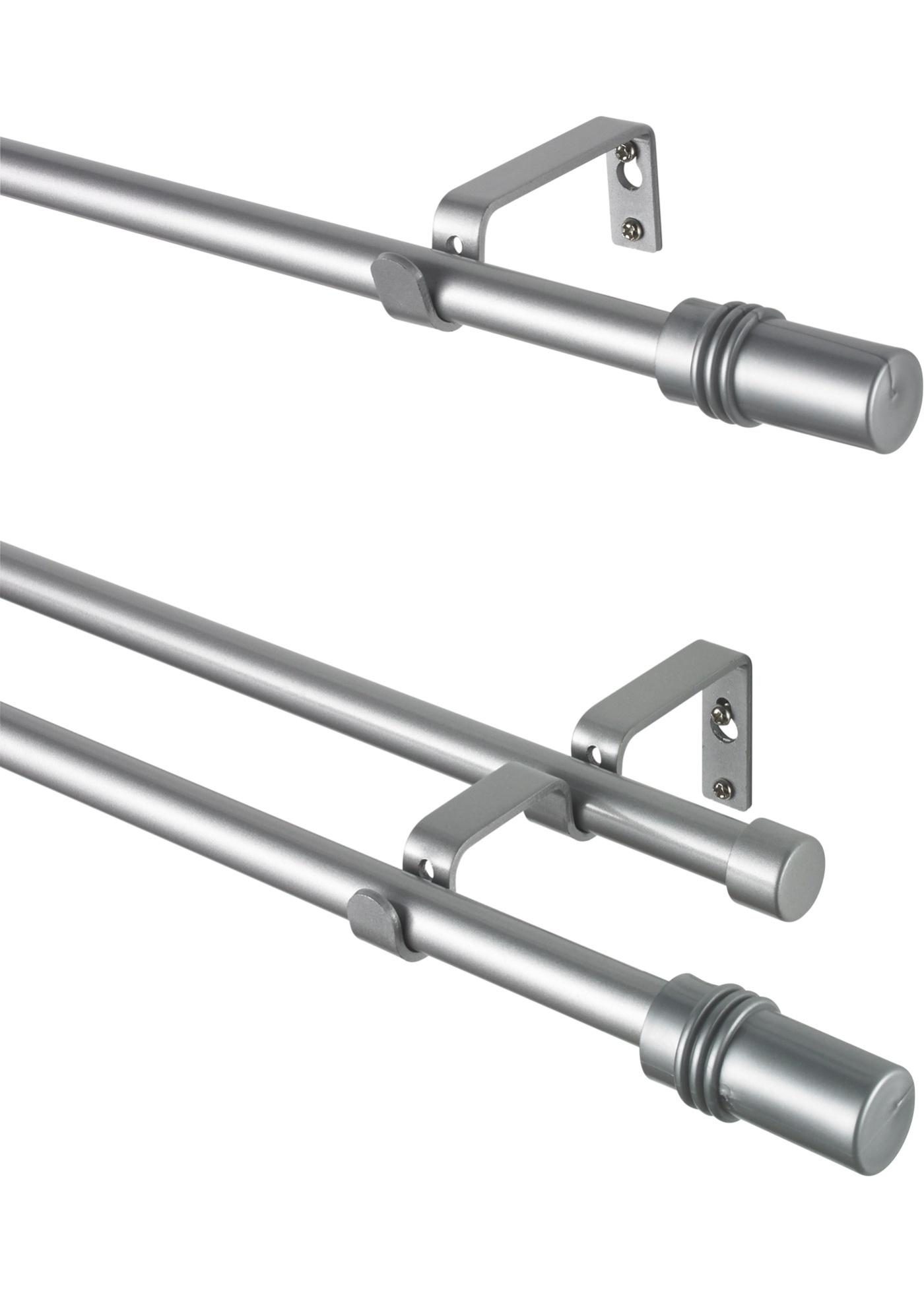 Záclonová tyč Cylindr - Stříbrná