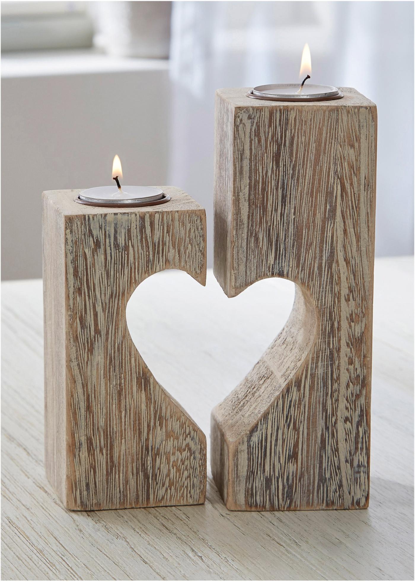 Svícen na čajové svíčky (2 ks) - Bílá