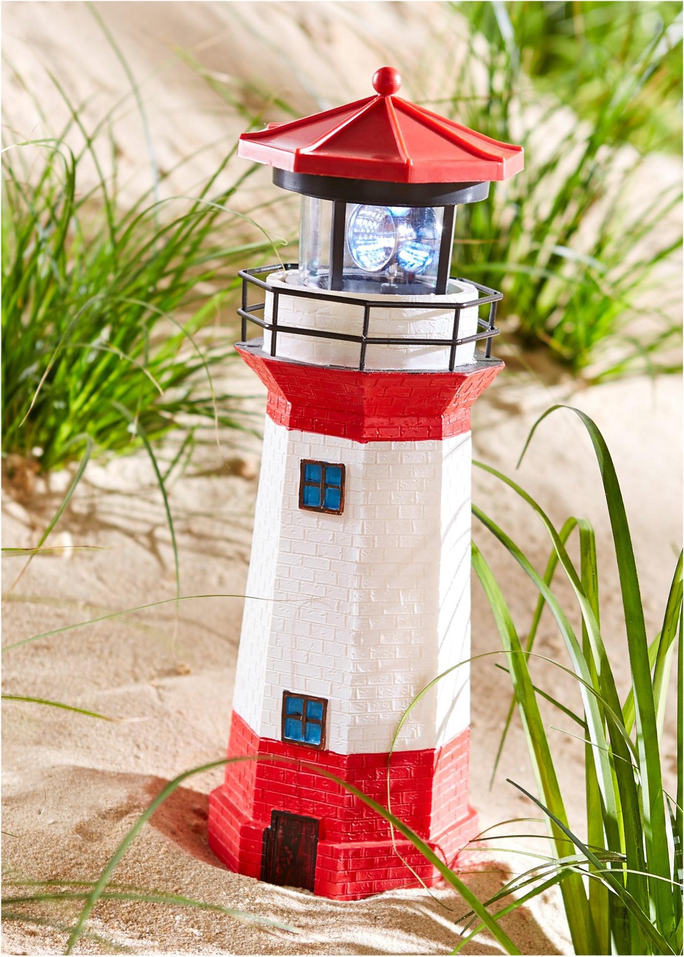 Solární lampička Maják - Červená