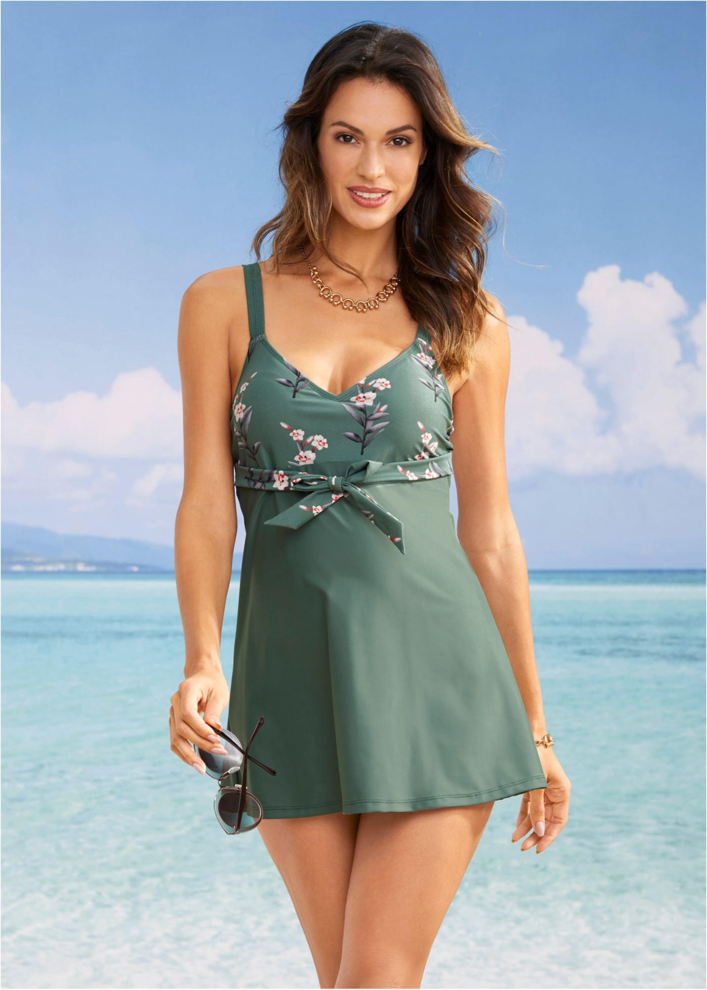 Plavkové šaty - Zelená