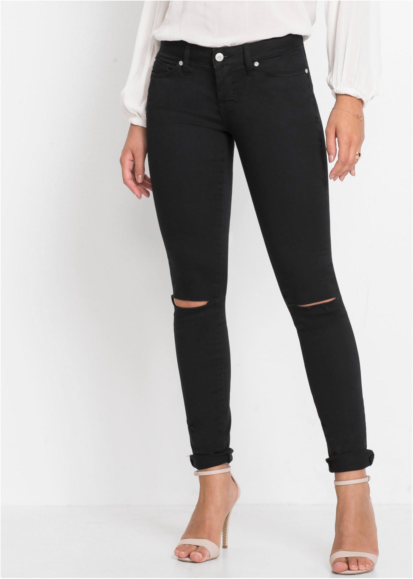 Skinny džíny push-up - Černá
