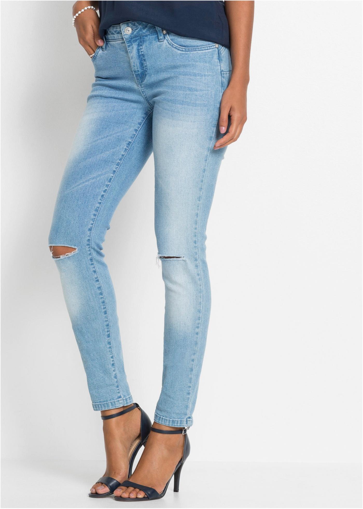 Skinny džíny push-up - Modrá