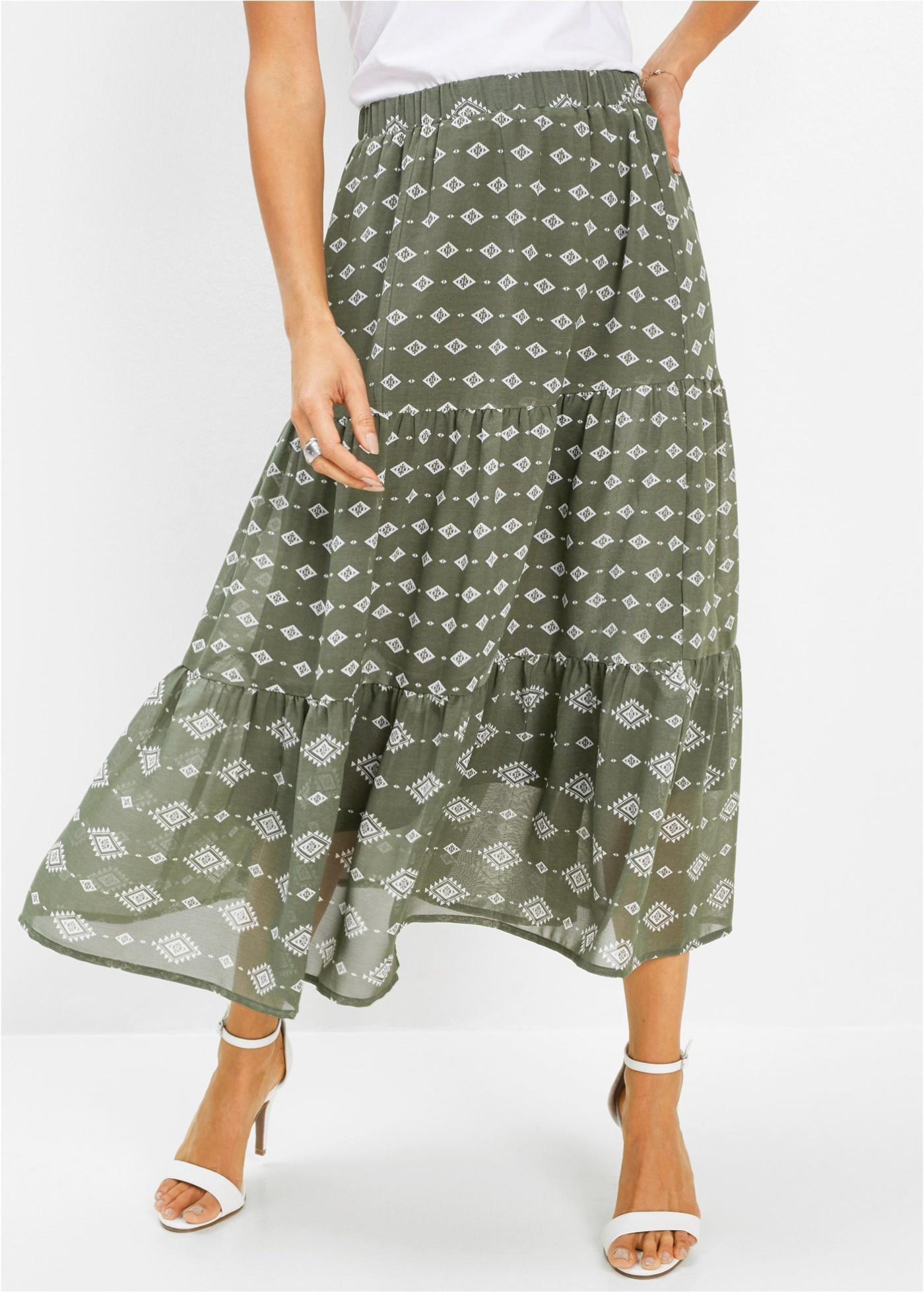 Dlouhá sukně - Zelená