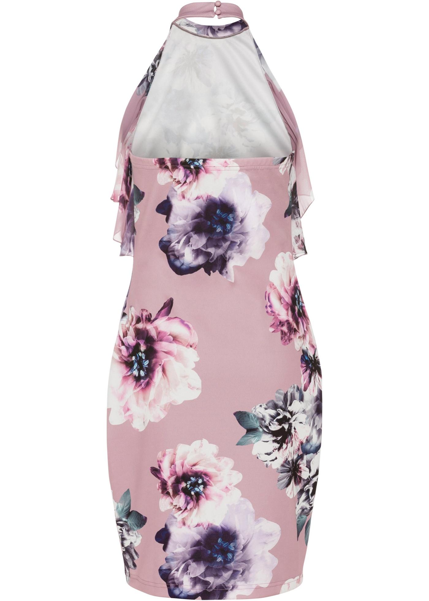 Šaty s volánem - Růžová