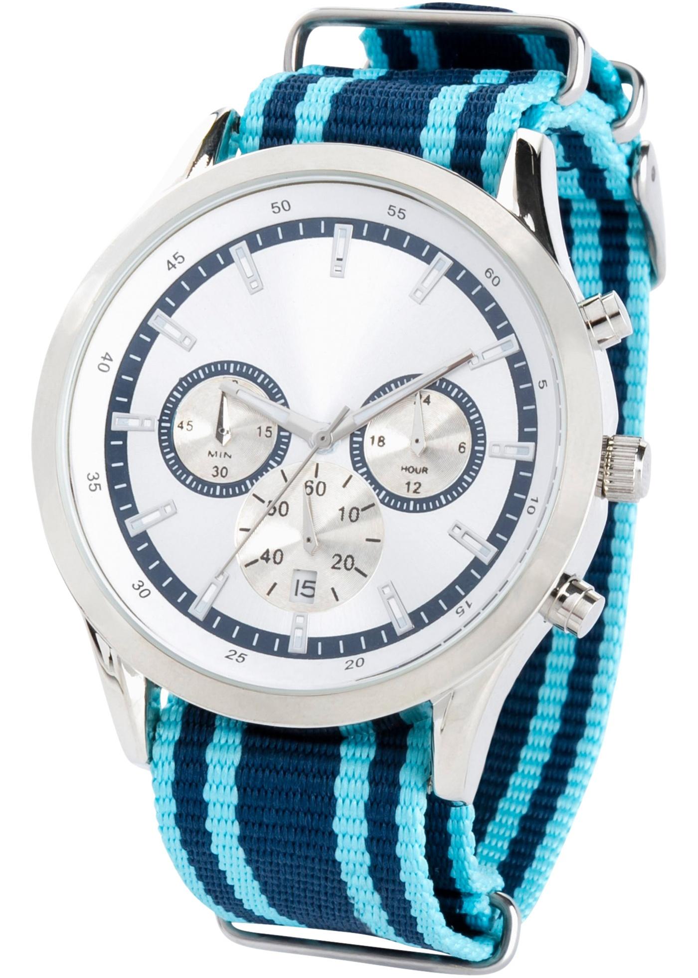 Pánské hodinky s chronografem - Fialová