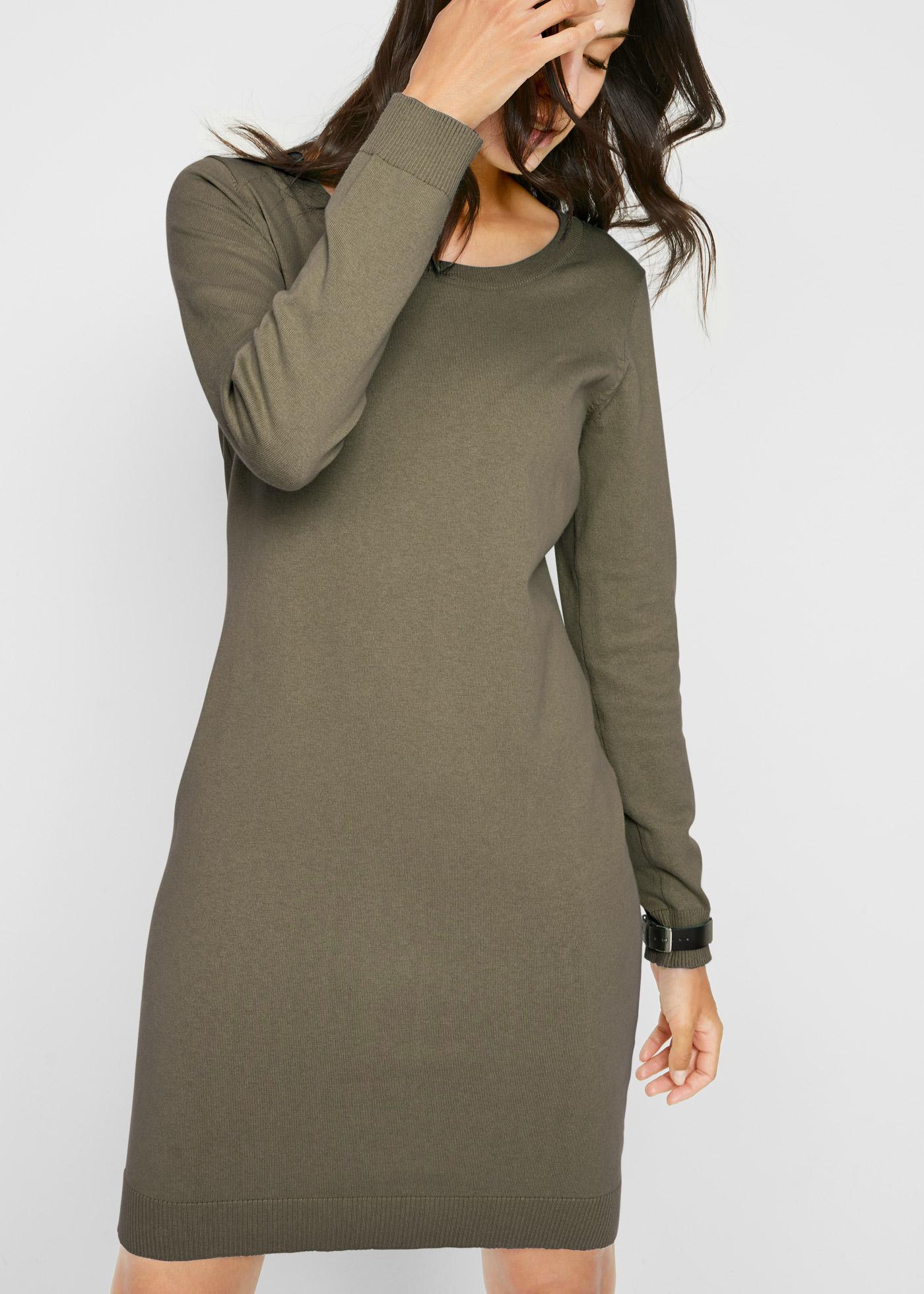 Pletené šaty - Zelená