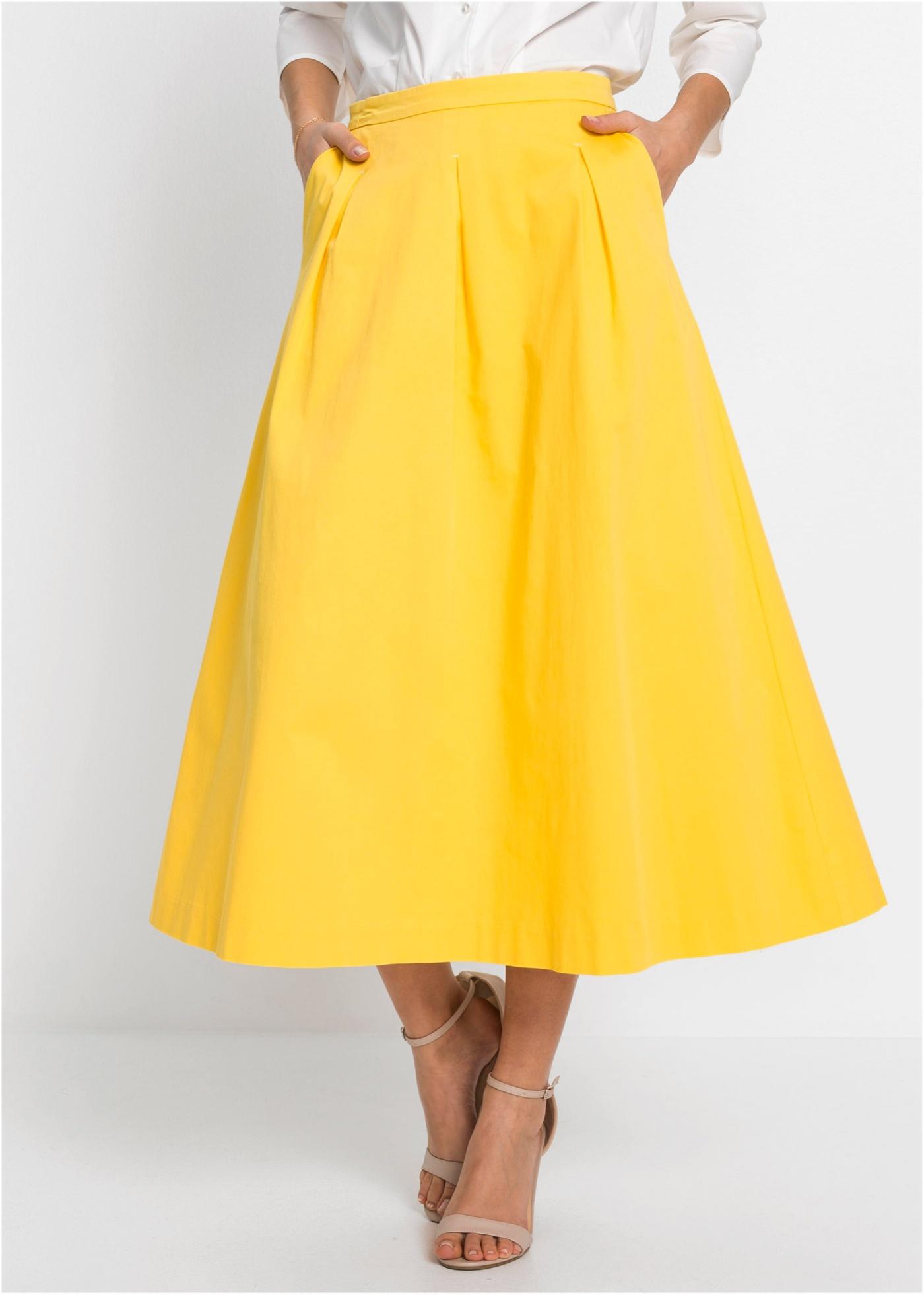 Dlouhá sukně - Žlutá