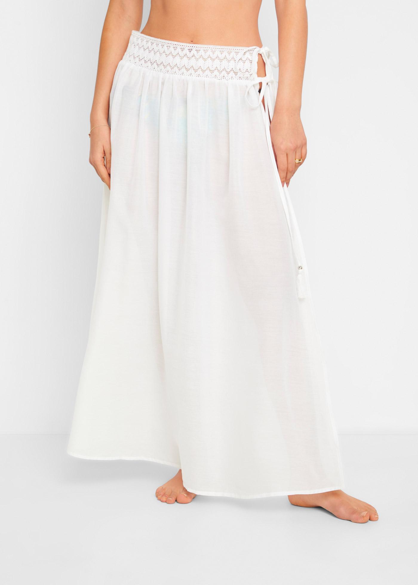 Dlouhá sukně - Bílá