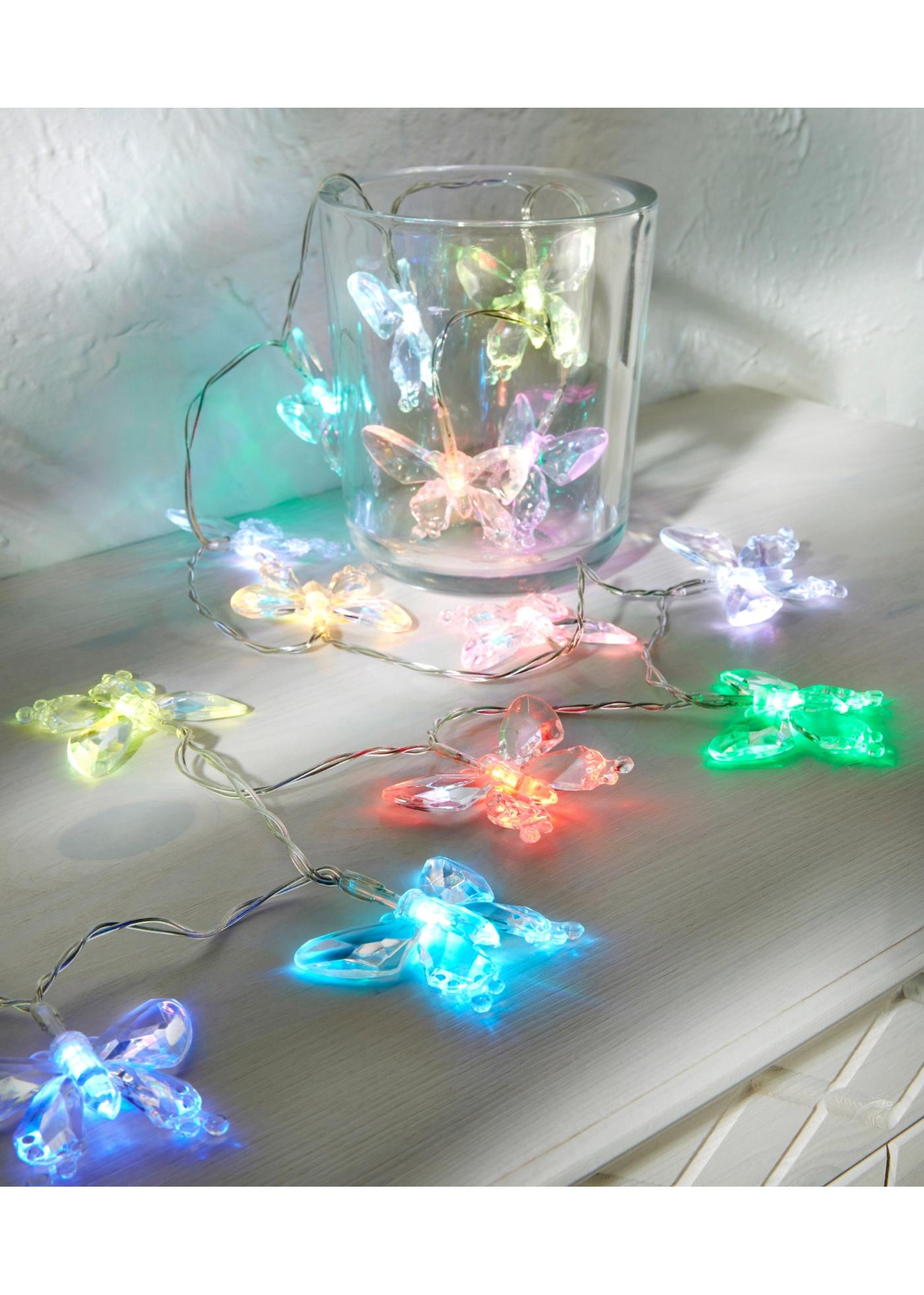 LED světelný řetěz ''Motýl'' - bezbarvá