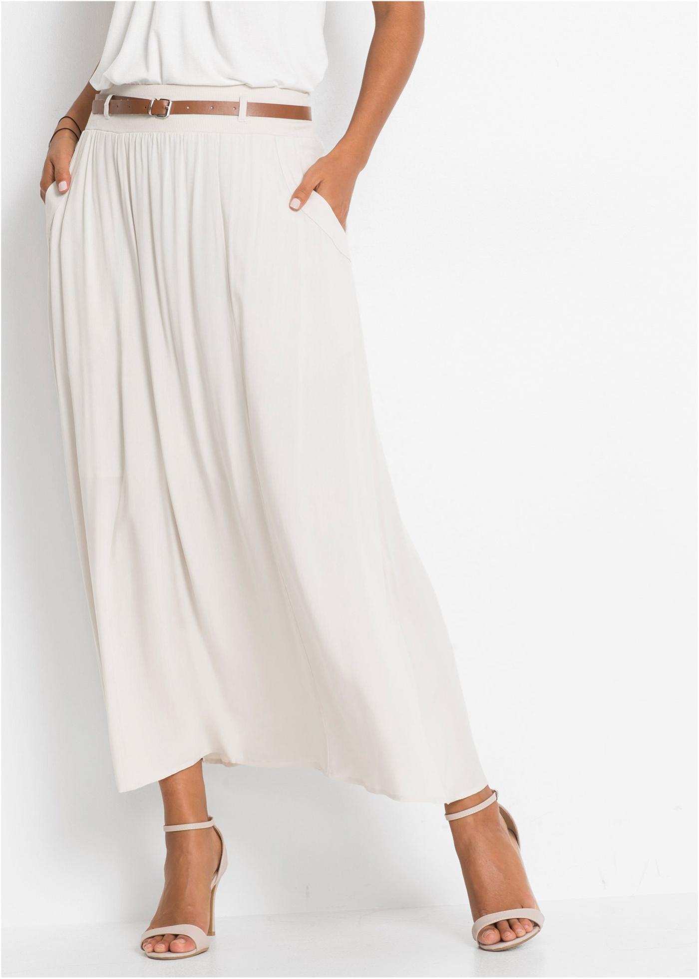 Dlouhá sukně - Béžová