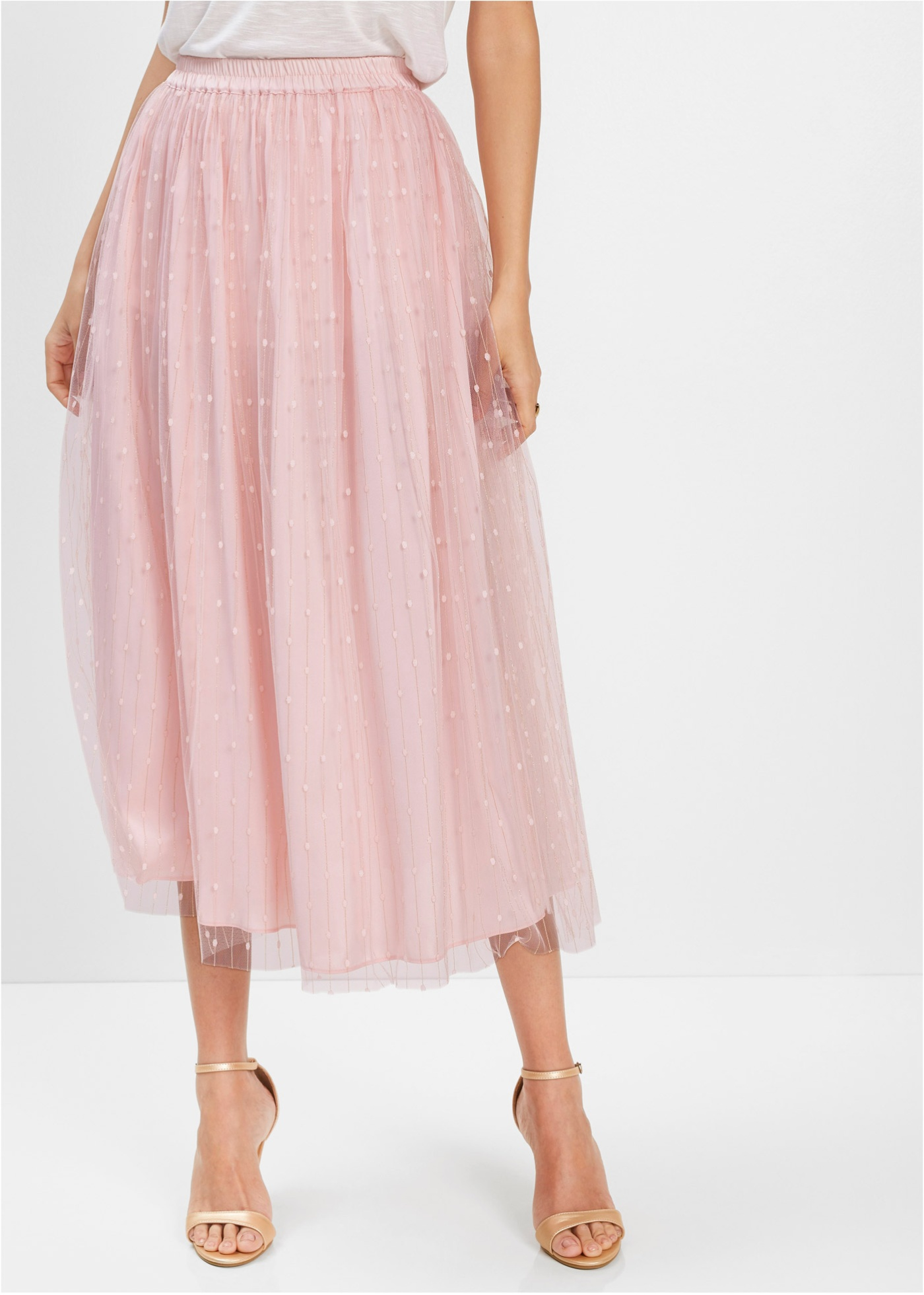 Dlouhá sukně - Růžová