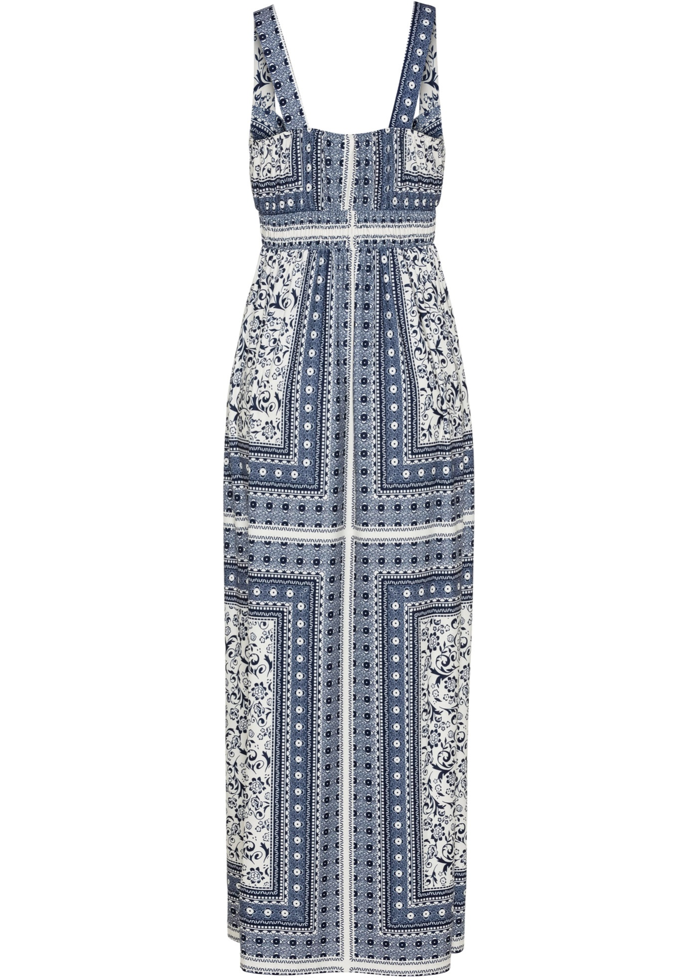 Dlouhé letní šaty - Modrá