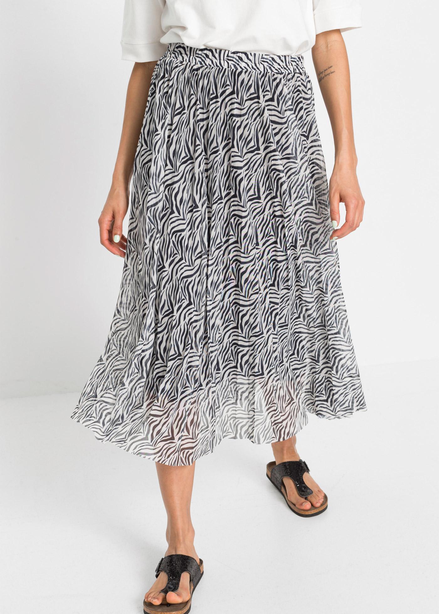 Tylová sukně - Černá