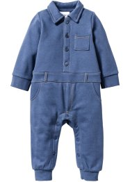 Mikinový baby overal, bpc bonprix collection, indigo