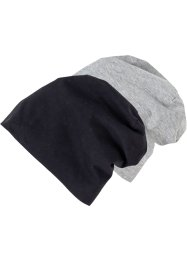 Čepice Beanie (2 ks v balení) z žerzeje, bpc bonprix collection