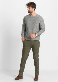Strečové chino kalhoty Slim Fit, Straight, bpc bonprix collection