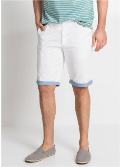 Chino bermudy s ohrnutím Regular Fit, bpc bonprix collection