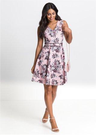 Žerzejové šaty světle růžová s květy - Žena - bonprix.cz fbc4035b6c