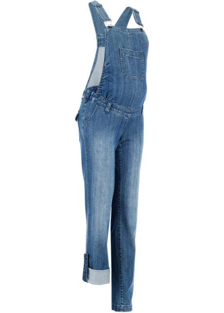 Těhotenské kalhoty s laclem modrá stone - Žena - bpc bonprix ... 43404e99bf