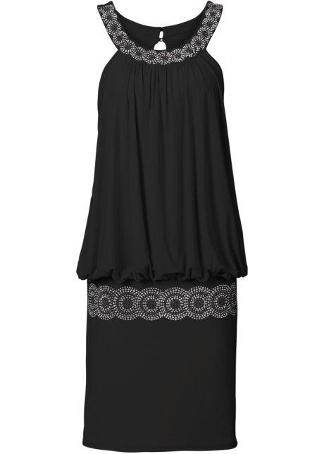 Koktejlové šaty černá - BODYFLIRT koupit online - bonprix.cz 504d1f6dc29
