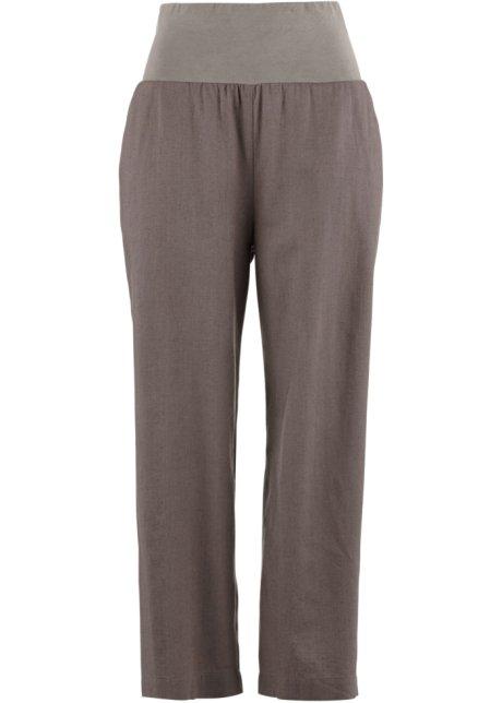 7 8 lněné kalhoty 64b1251567