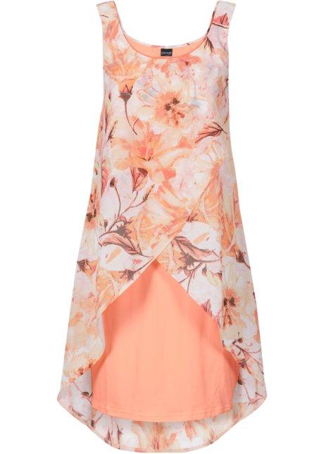 Šaty s květinovým potiskem korálová s potiskem - BODYFLIRT - bonprix.cz 609d53e70a