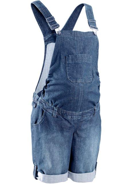 Těhotenské džínové šortky s laclem modrá stone - bpc bonprix ... 3971e62e7a