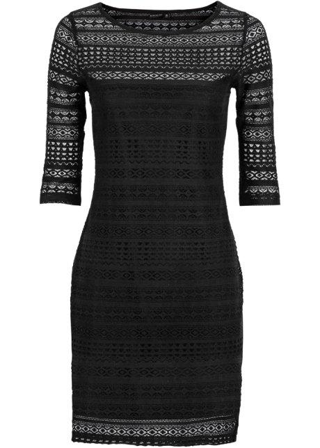Šaty s krajkou černá - BODYFLIRT koupit online - bonprix.cz 0842c0dc75