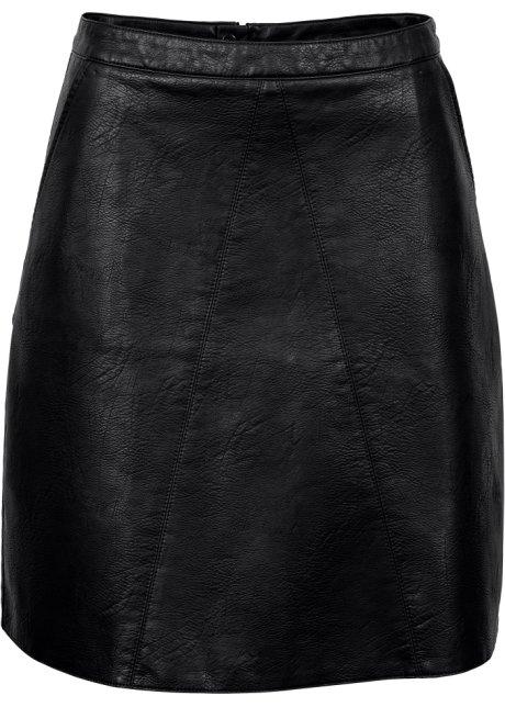Sukně z umělé kůže černá - Žena - bonprix.cz 7539845230
