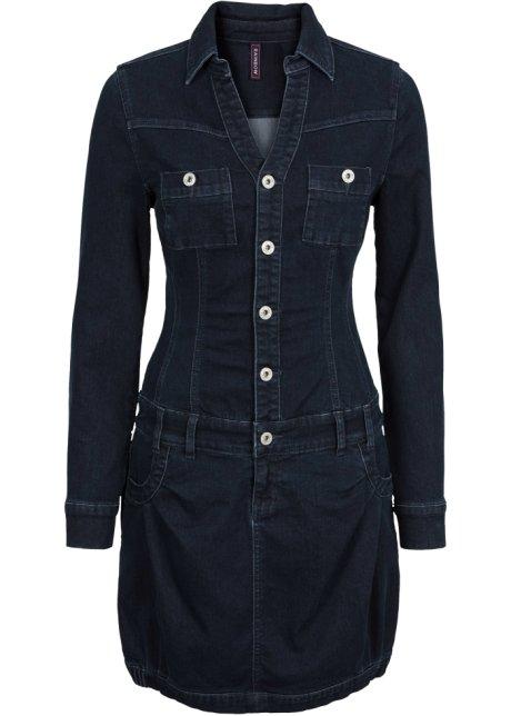 f4d593659ae Džínové šaty s dlouhým rukávem raw denim - RAINBOW objednat online ...