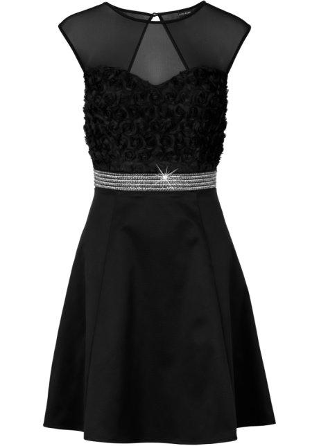 Šaty s krajkou černá - BODYFLIRT koupit online - bonprix.cz dcc0c9dc24