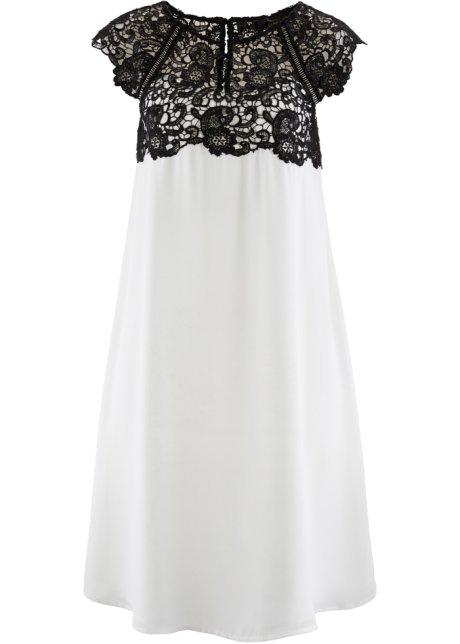 Šifónové šaty s krajkou 6e5e577087