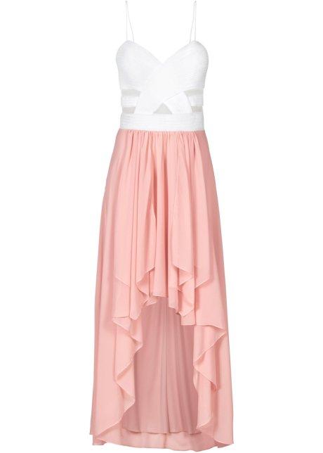 Šaty se srdcovitým výstřihem bílo-růžová - BODYFLIRT koupit online ... 81641c9d81