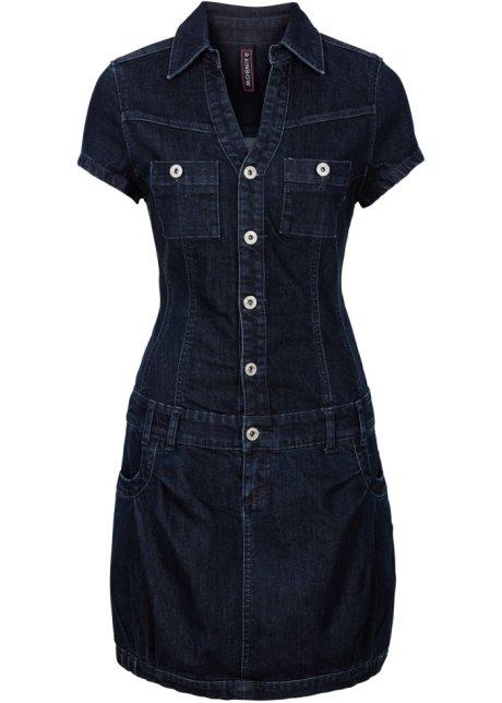 fc76d752615 Džínové šaty s knoflíkovou légou a náprsní kapsou raw denim ...