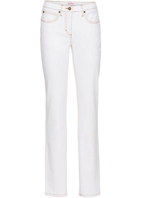 6050d9ed4c2 Pohodlné strečové džíny STRAIGHT bílý twil - John Baner JEANSWEAR ...