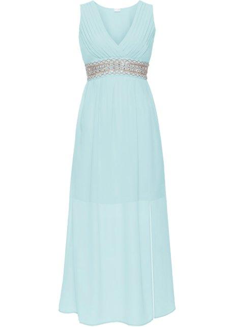 Večerní šaty s aplikací světle modrá - Žena - bonprix.cz 8533f6f136