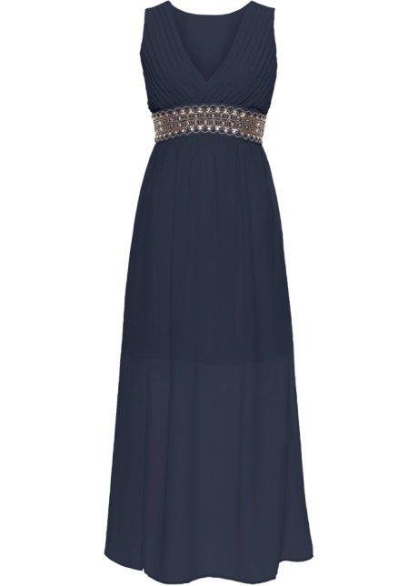 Večerní šaty s aplikací tmavě modrá - BODYFLIRT - bonprix.cz b5a3792685