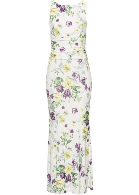 Šaty s květinovým potiskem krémová - BODYFLIRT boutique koupit ... 2d6e52b159