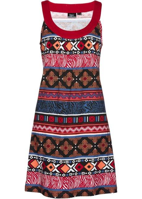 ad634b5f763d Úpletové šaty tmavě červená s potiskem - Žena - bpc bonprix ...