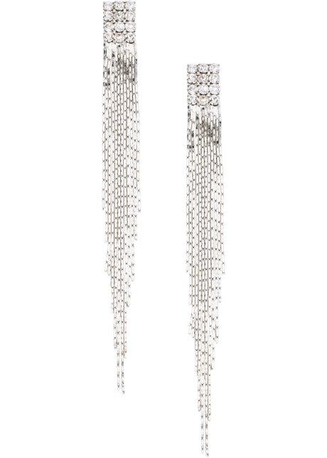 Štrasové náušnice stříbrné tóny - bpc bonprix collection koupit ... 41fa724b126