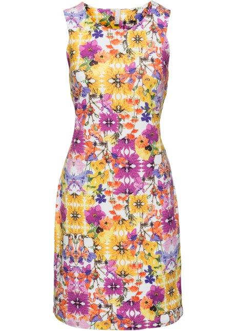 Květované šaty bílo-žluto-růžová s květy - BODYFLIRT boutique ... 71ff38e4f4