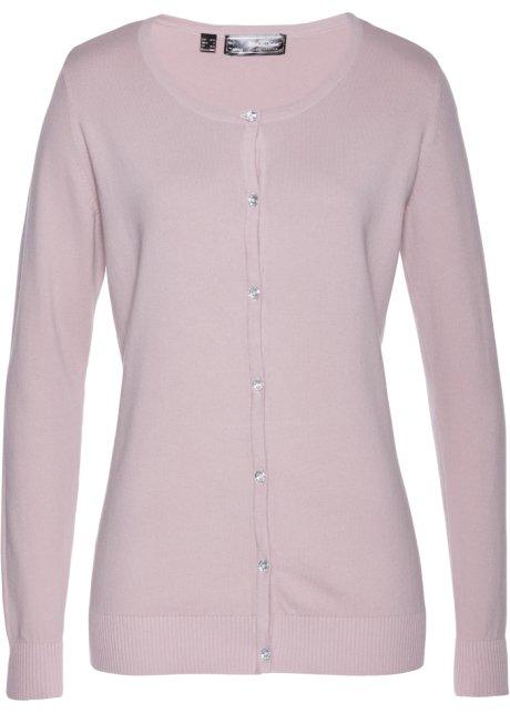Pletený kabátek matná růžová - Žena - bonprix.cz 2410ee4a0a