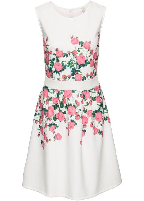 Šaty s květinovým potiskem bílo-růžová - BODYFLIRT boutique - bonprix.cz 0807726def