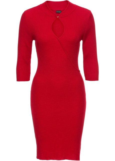 236c40aeefff Pletené šaty červená - BODYFLIRT objednat online - bonprix.cz