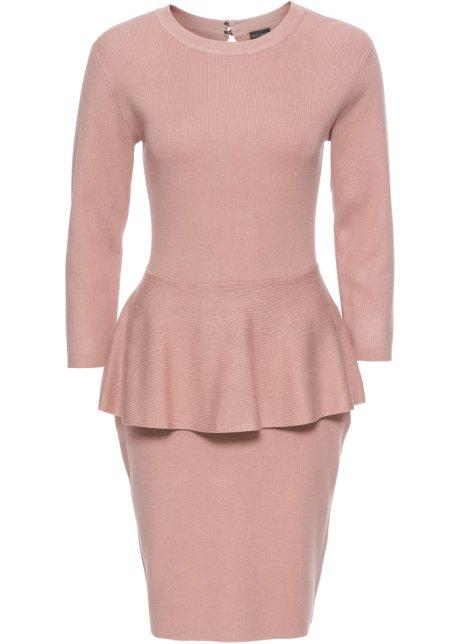 Pletené šaty se sedýlkem růžová - BODYFLIRT koupit online - bonprix.cz 192ae1233b
