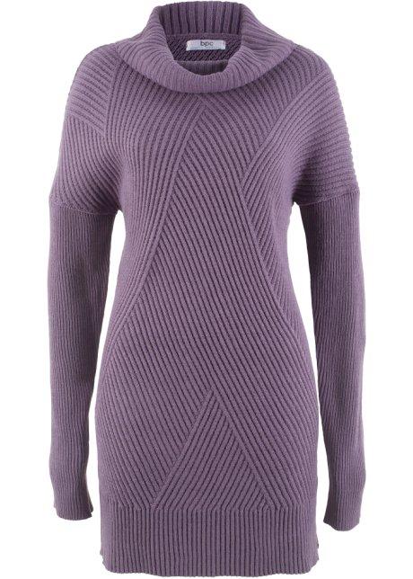Oversized dlouhý svetr matně fialová - Žena - bpc bonprix collection ... 896825352d