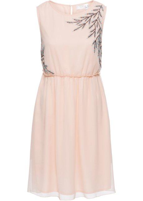 Šaty s perličkovou aplikací růžová - BODYFLIRT objednat online ... 30b0c31e30