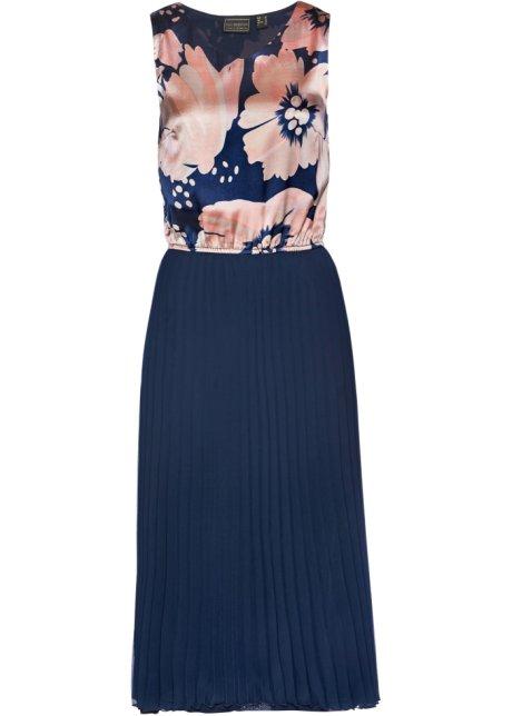 Saténové plisované šaty c4cf402809a