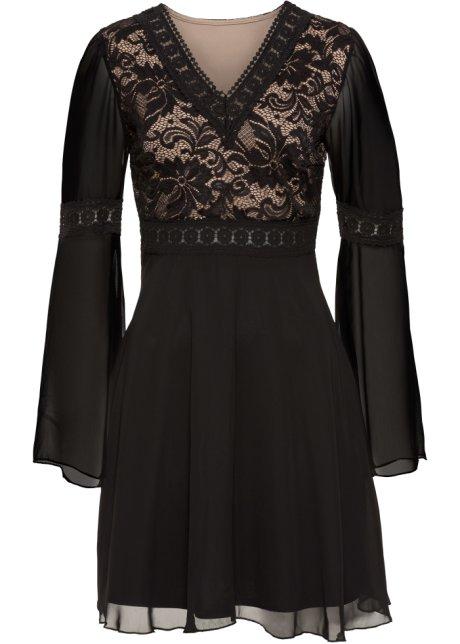 7c7dd2a300b7 Šaty s krajkou černá - BODYFLIRT boutique - bonprix.cz